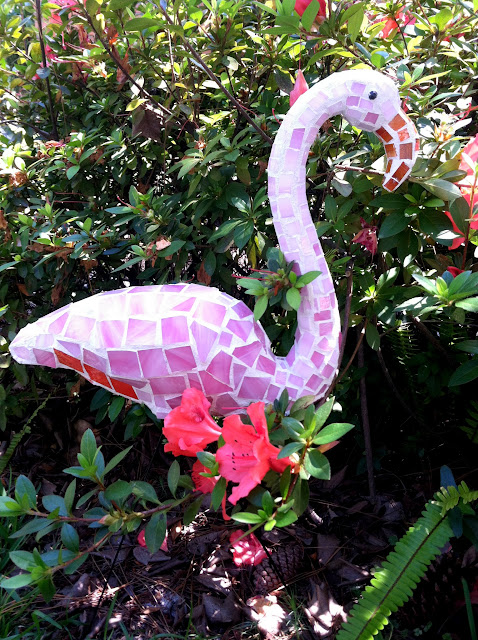 mosaic flamingo art lucy designs