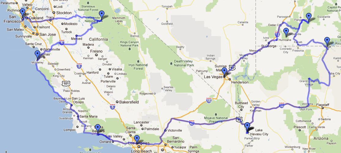 Rondreis Zw Amerika 2012 Zw Amerika