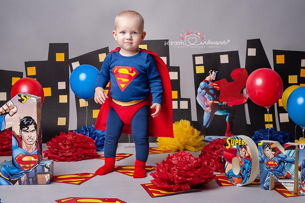 sesja urodzinowa superman