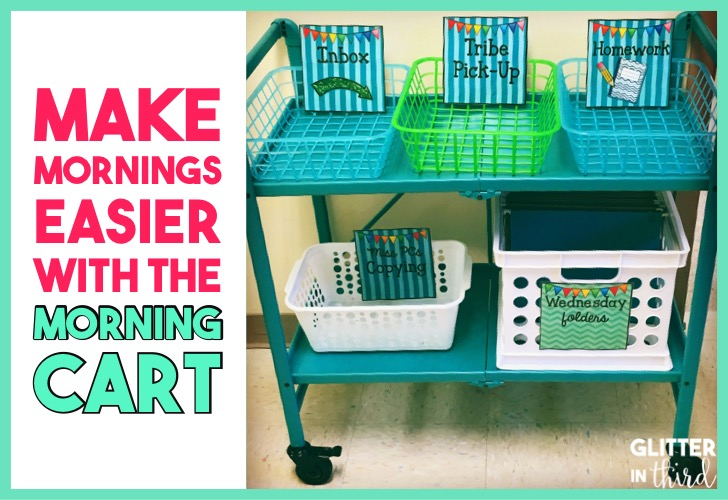 Make morning activities and routines for students easy in your classroom with the MORNING CART.