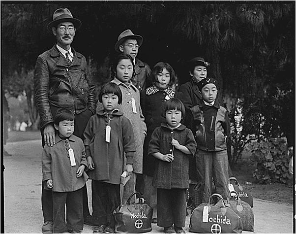 Japanese Americans shipped off to internment camps during World War II