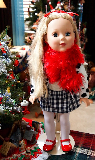 Little Jo's Doll Party - Madame Alexander Doll - Holiday doll party.
