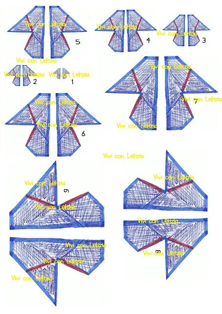 Cartamodello farfalle origami da stampare in formato A4