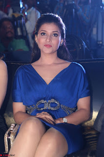 Mannara Chopra in Short Blue Dress at Rogue Movie Teaser Launch 1st March 2017 021.JPG