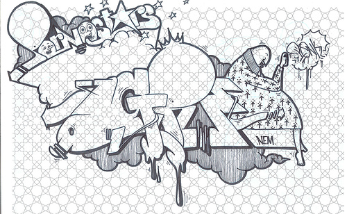 GRAFFITI FONTS: Graffiti Sketches Black and With by ...