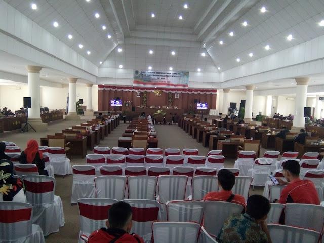 Paripurna DPRD OI Agenda Mendengarkan Pidato Kenegaraan Sepi