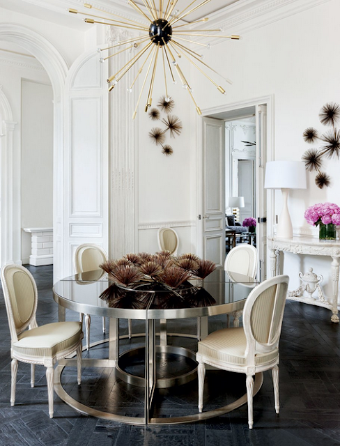 Lauren Santo Domingo paris home designed by Francois Catroux dining room