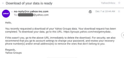 Yahoo Groups Download Ready