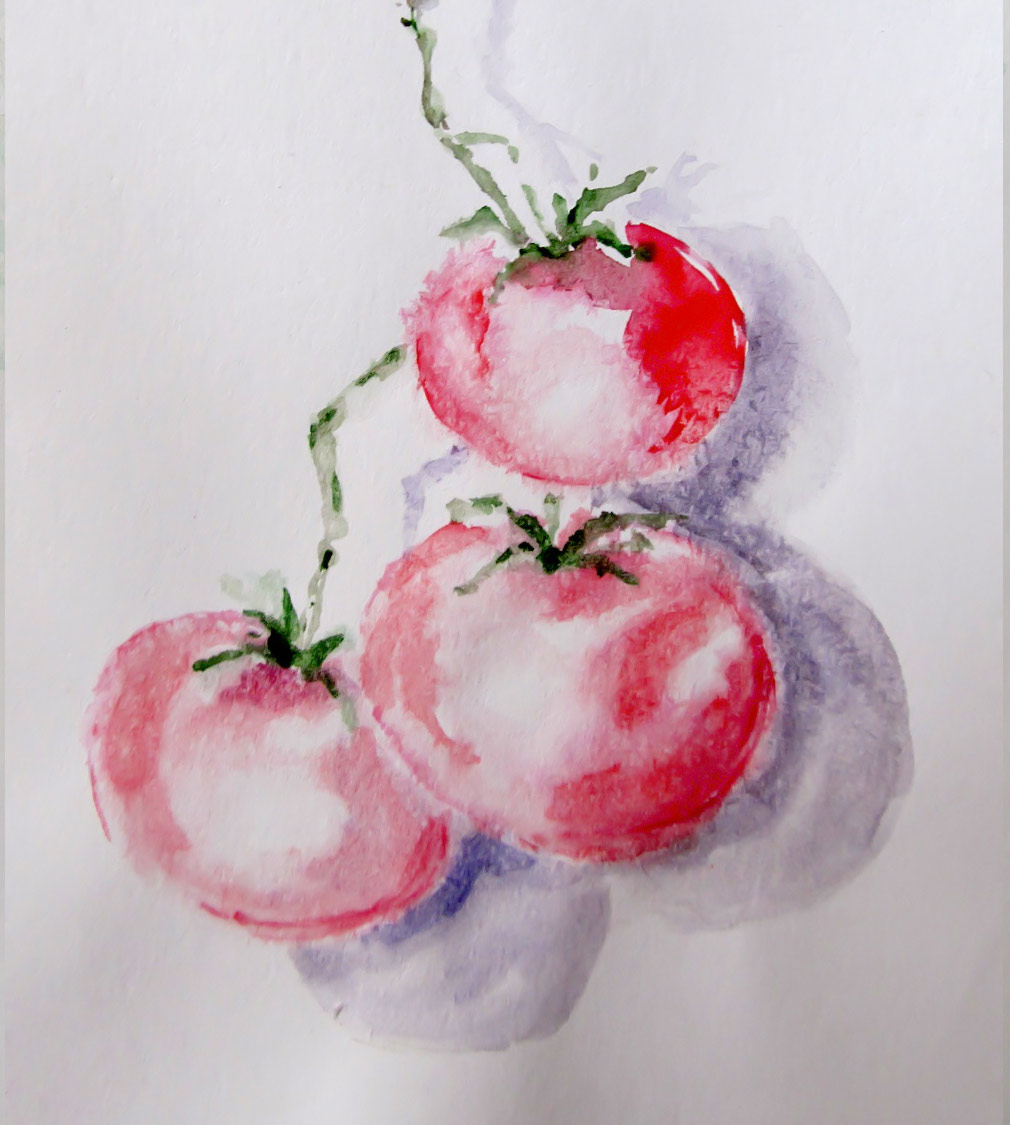Tomatoes-Watercolor