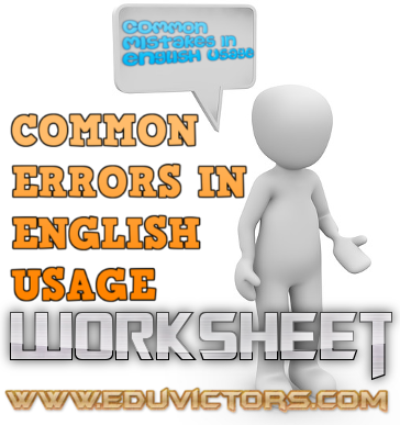 ENGLISH GRAMMAR: COMMON ERRORS IN ENGLISH USAGE (#cbseNotes)