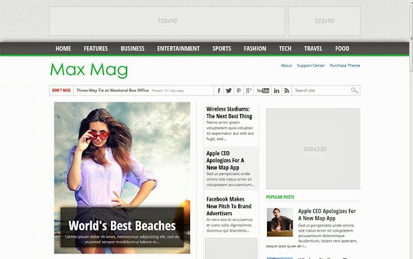 MaxMag – Responsive Blogger Template