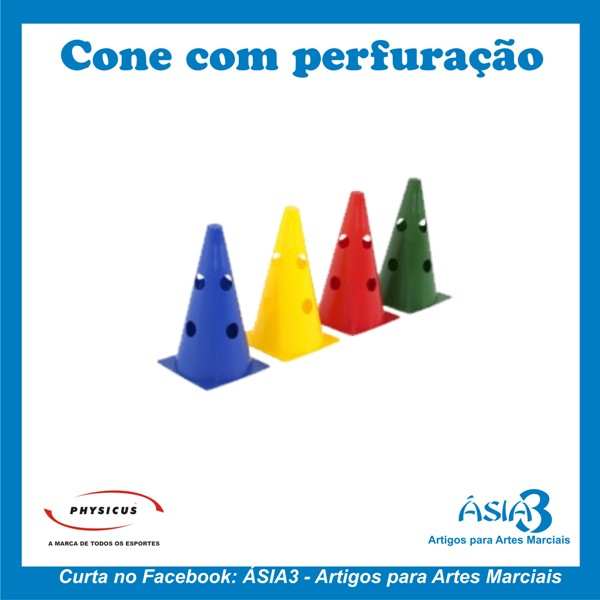 ad6b56ca8 Através de seu formato os cones coloridos com perfurações auxiliam em  diversas atividades e treinamentos esportivos que possa desenvolver  diversas ...