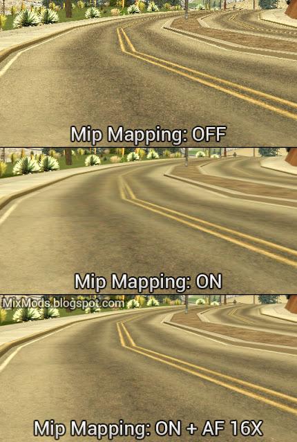 gta sa mod mipmaps mipmapping anisotropic filtering 16x
