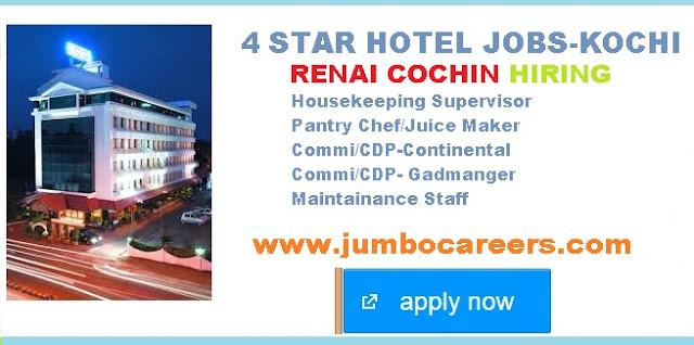 Juice maker jobs in Kochi,  4 Star hotel jobs in Kochi