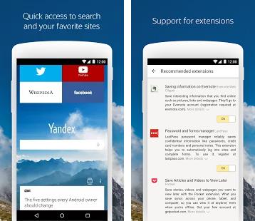Download Yandex Browser 16.10.1.1443 APK for Android