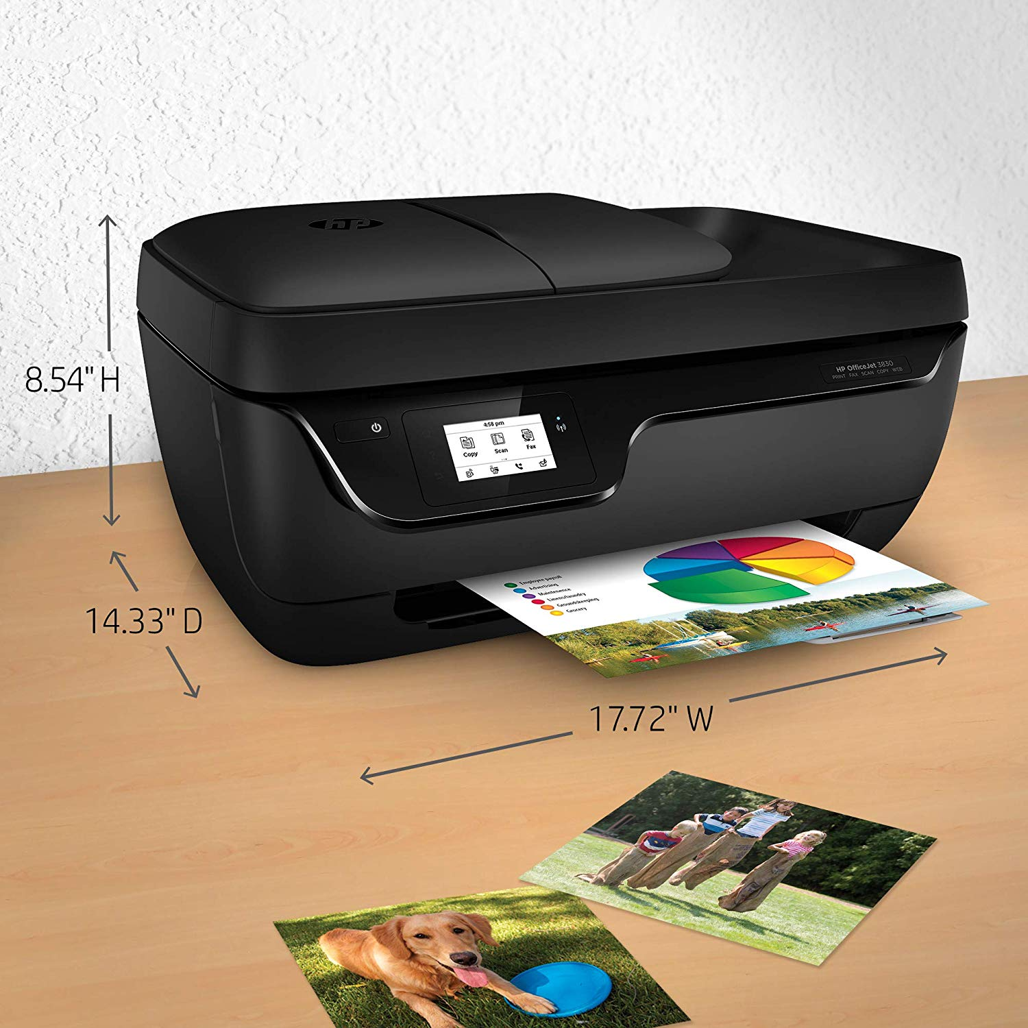 HP OfficeJet 3830 All-in-One Wireless Printer Mobile Printing
