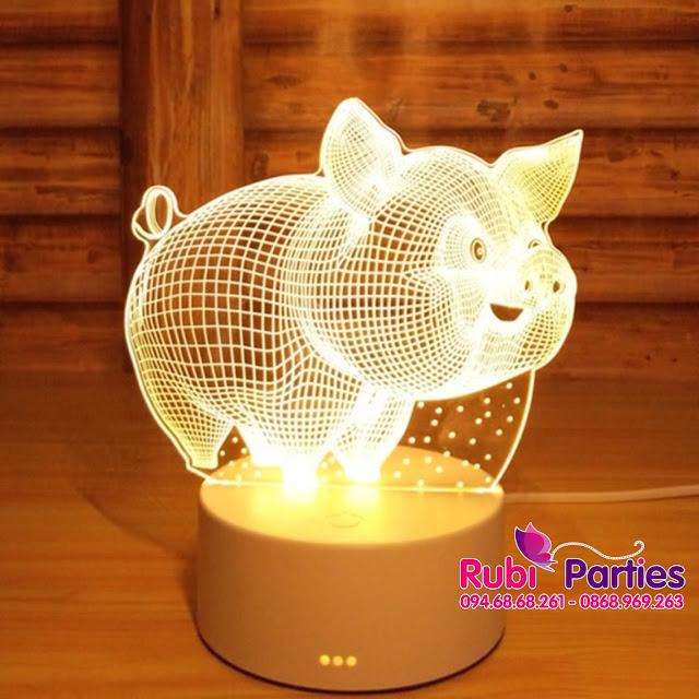 Den LED 3D hinh con lon (716)
