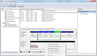 What makes an hard drive become unallocated?