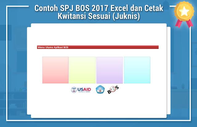 Contoh SPJ BOS 2017 Excel dan Cetak Kwitansi Sesuai (Juknis)