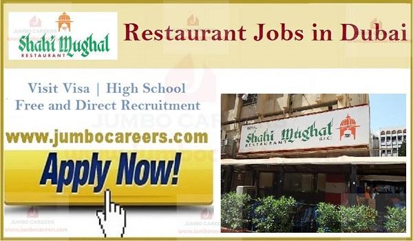 Restaurant jobs Dubai Walk in Interview, UAE restaurant jobs with salary,