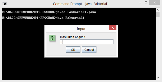 Java - Factorial Program using recursion