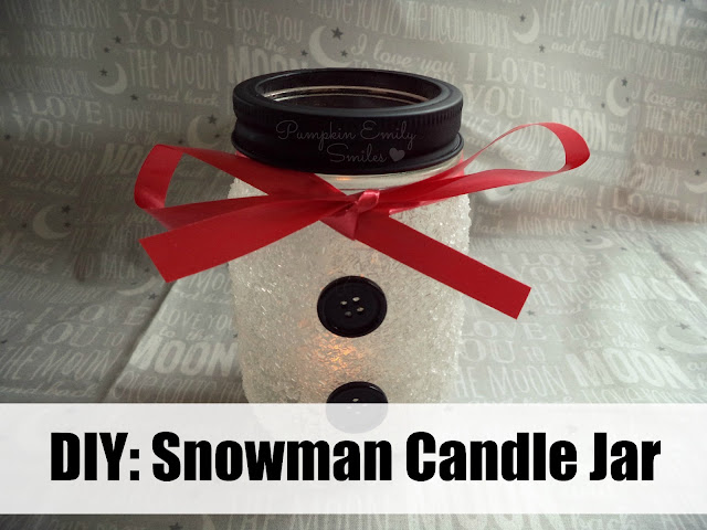 DIY: Snowman Candle Jar