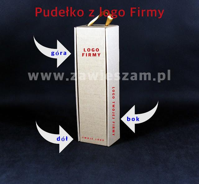 pudełko z logo frmy