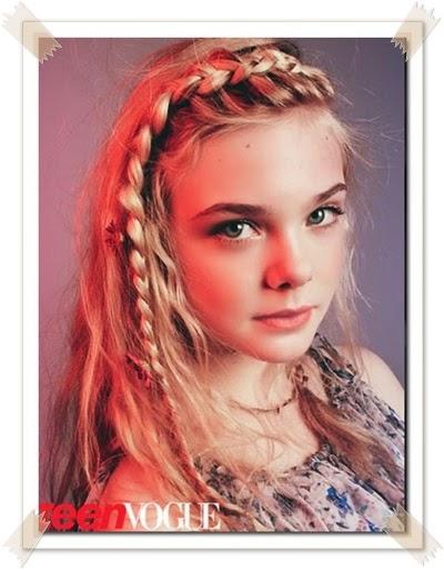 kepang rambut anak perempuan