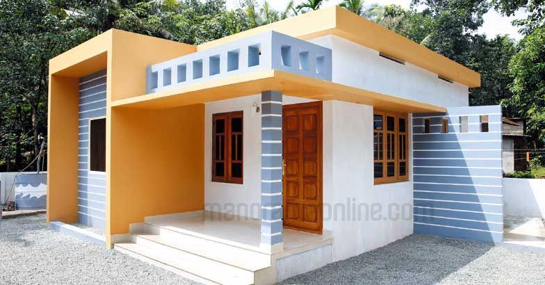 Cost effective 2 bedroom 800 sq ft budget kerala home for for House plans in kerala with 2 bedrooms