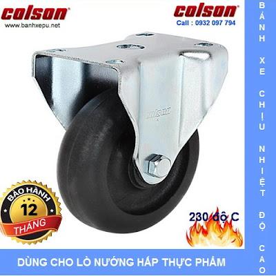 Bánh xe chịu nhiệt +230C Colson cho xe đẩy trong lò xoay | 2-4608-53HT banhxedayhang.net
