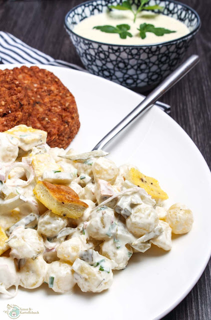 leckerer Kartoffelsalat mit selbstgemachter Majo