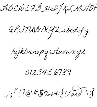 [字型] 超有質感的手寫字型第三彈-4款手寫英文字型 - maomaogame