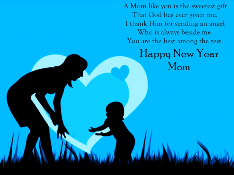 New Year Wishes Image for Mother