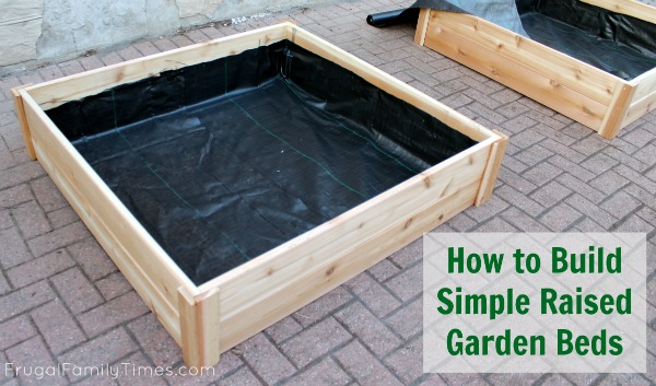 How to build raised garden bed boxes growing vegetables for Making raised garden beds