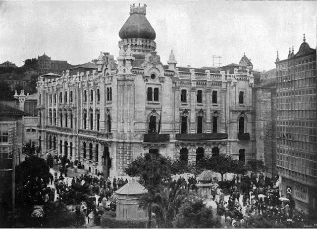 Edificio del Ayuntamiento de Santander en 1907, el año de su inauguración