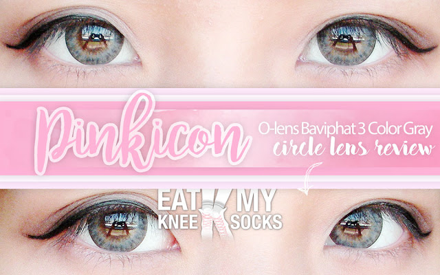It's been over half a year (almost a full year!) since my last circle lens review, so today I've got a new review for you all! I'll be reviewing the O-Lens BaviPhat 3 Color Gray lenses from Pinkicon, an online store based in Hong Kong that sells all things beauty-related, from circle lenses to makeup to skincare and more. - Eat My Knee Socks / Mimchikimchi
