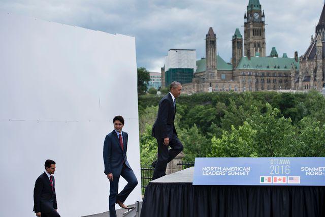 Obama y Trudeau ignoran a Peña Nieto en Ottawa (VIDEO)