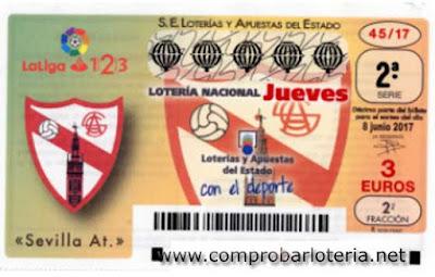 decimos de loteria dedicados al Sevilla Atlético