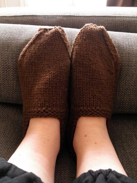 chaussons tricotés en laine Sport de Bergère de France
