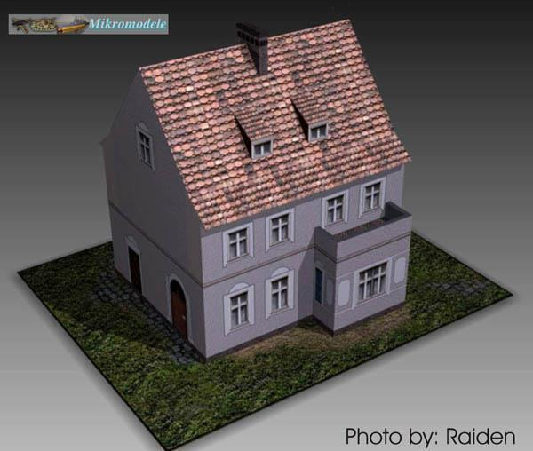 Papermau A Polish House Paper Model In 1 120 Scale By Mikromodele