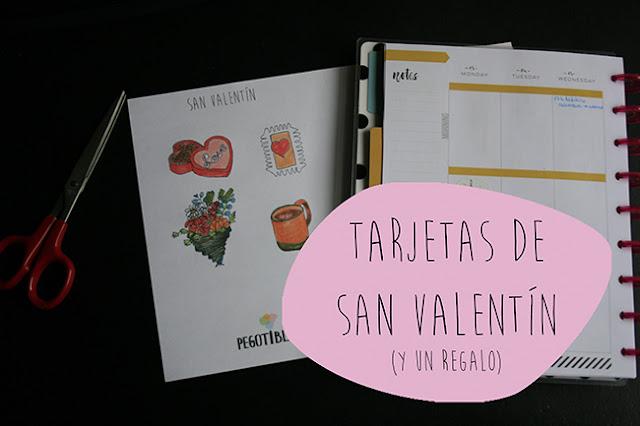 Inspiración: Tarjetas de San Valentín - Regalo pegatinas imprimible