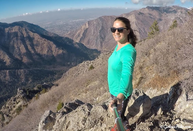 Hiking to the Ogden Canyon Overlook