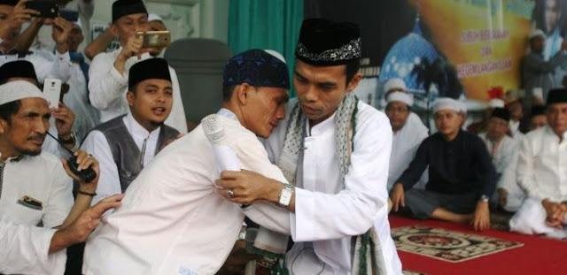 Subhanallah, di Hadapan Ustad Somad, Agustian Purba Ucap Syahadat