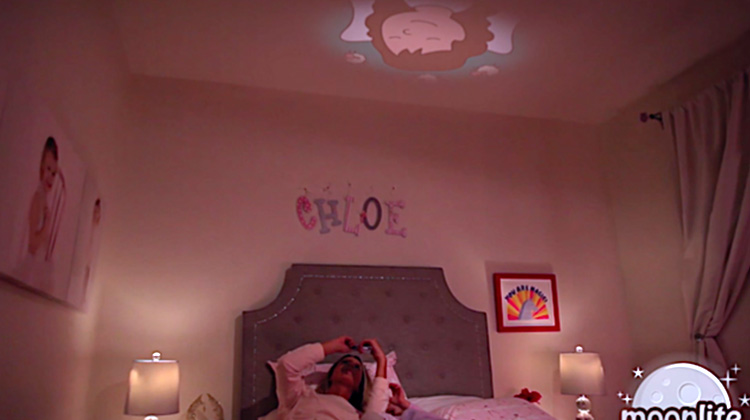 iPhone device projects bedtime stories to your kids