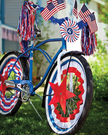 This festive red, white and blue bike is perfect for the 4th of July.