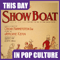 """Show Boat,"" the first American musical play, opened on Broadway on December 27, 1927."