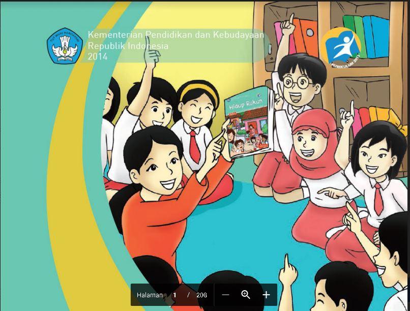 Download Buku Tematik Kurikulum 2013 Buku Guru  SD/MI Kelas 2 Tema 1 Hidup Rukun Edisi Revisi Format PDF