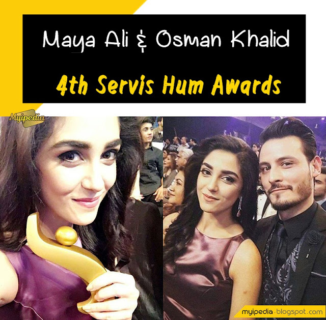 Maya Ali & Osman Khalid Butt Wins Best Actor Award for Diyar e Dil ServisHumAwards