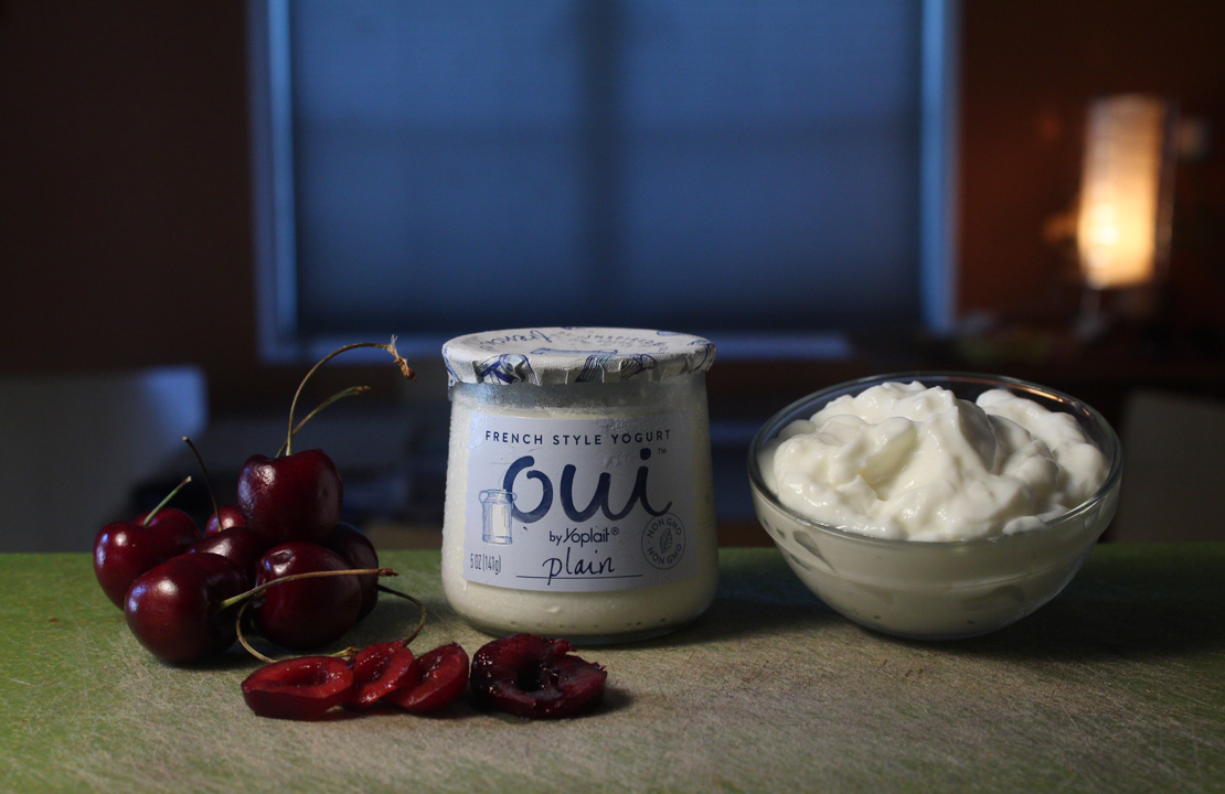 The 99 Cent Chef Cherries And Yogurt