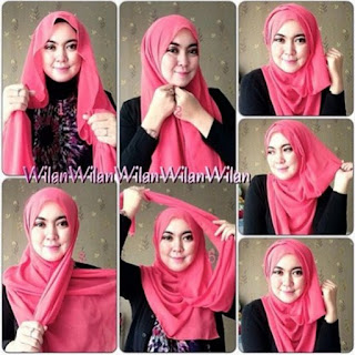 Tutorial jilbab pashmina minimalis untuk remaja